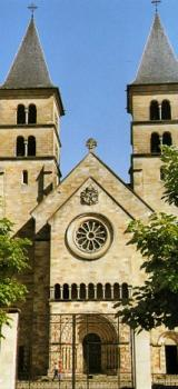 Who constructed the Basilica (Echternach)?